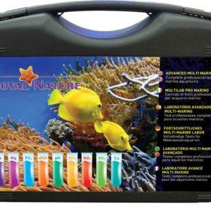 Malette complète de test pour aquarium marin